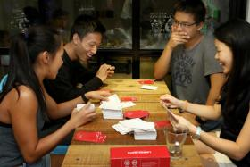 Card game Limpeh Says is available at each of the Play Nation outlets here.