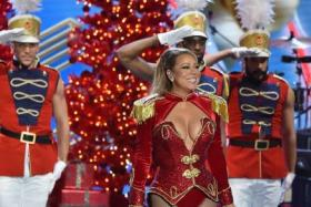 Mariah Carey, singer of the famous Christmas tune All I Want For Christmas Is You, performing earlier this month in New York City.
