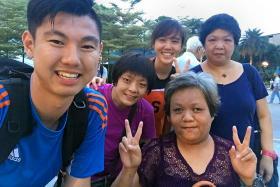 (From left) Mr Huang Zhiwei, Ms Wang Cai Ling, Mr Huang's girlfriend and Ms Xu Wei Ling.
