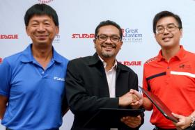 S.League chief executive Lim Chin (far left) will leave the post on March 31