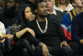 Musical recording artist Nicki Minaj and Meek Mill.