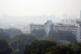 The haze in the eastern part of Singapore on 26 August 2016.