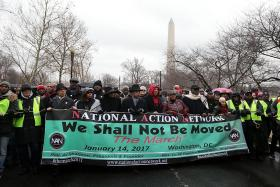 US protesters rally, vow to defend civil rights
