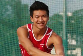 National sprinter Calvin Kang's personal best is 10.47sec.