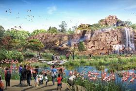 An artist's impression of the Crimson Wetlands at the new Bird Park.