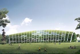 An artist impression of the Skool4Kidz childcare centre at Sengkang Riverside Park.