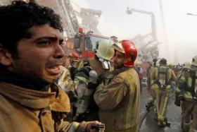 Oldest Iranian high-rise collapses in fire