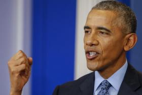 US President Barack Obama participates in his last press conference as president