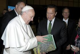 Arnie's audience with the Pope