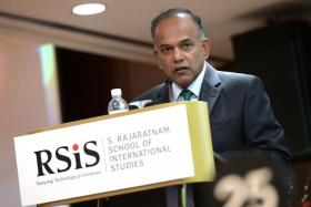 Law and Home Affairs Minister K Shanmugam at the RSIS' Studies in Inter-Religious Relations in Plural Societies symposium.