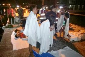 Of the 22 rescued, many were bleeding and heavily sunburnt.