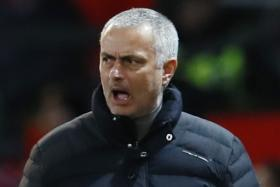 Jose Mourinho (above) cut a frustrated figure at old trafford yesterday.