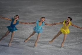 Ice-skating festival held as usual despite Kim's death