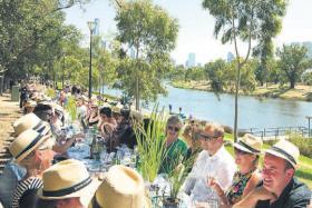 Melbourne World's Longest Lunch.