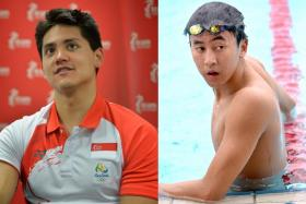 Joseph Schooling (left) and Quah Zheng Wen (right) will be competing in the world championships in July, before August's SEA Games in Kuala Lumpur.