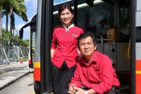 Mr Koh Teck Heng got his sister, Madam Koh Guek Khim, to join SMRT nine years ago.