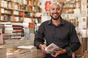 Local poet Marc Nair at BooksActually