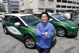 Mr James Ng, managing director of HDT Singapore Taxi, says its partnership with GrabTaxi will help its drivers get more jobs.