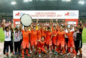Albirex Niigata clinched the Great Eastern Community Shield after a 2-1 win over Tampines Rovers at the National Stadium