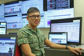 Corporal Sim Tian Quan enjoys tackling unexpected problems.