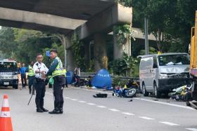Driver arrested after BKE collision leaves two motorcyclists dead and six hospitalised