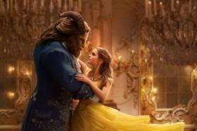 Cinema still: Beauty And The Beast starring Emma Watson and Dan Stevens.