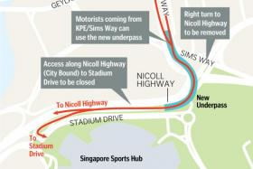 New underpass for faster ride to Nicoll Highway