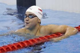 Joseph Schooling at the 2016 Olympics.