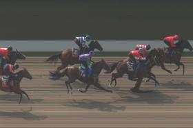 Astrostar beats Warpath and The Capital (No. 5) in Trial 2 yesterday.