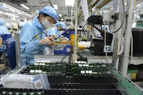 Factory output surged 12.6% last month