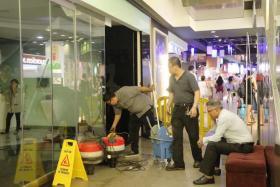 Water leakage at 313@Somerset closed at least one shop on Wednesday afternoon
