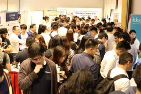 The crowd at the inaugural Startup Career Fair 2017, organized by ACE