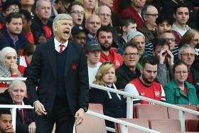 Arsenal manager Arsene Wenger during the match against Manchester City