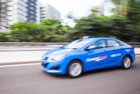 A Comfort taxi managed by ComfortDelGro