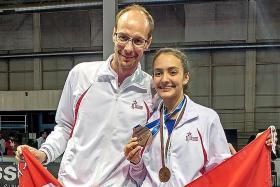 Fencer Amita strikes bronze at world juniors