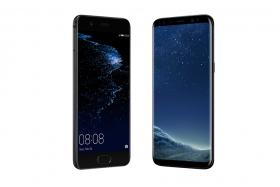 The Huawei P10 (left) and Samsung Galaxy S8.