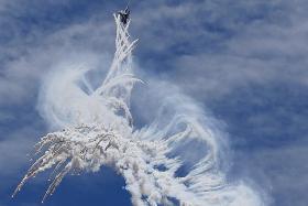 Aerial acrobatics in Indonesia