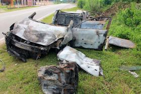 Singaporean driver dies in fiery crash