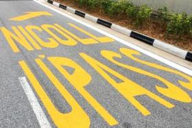 Highway marking draws attention, and laughs