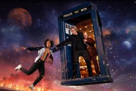 Doctor Who returns for Season 10 with Pater Capaldi as the Doctor, Pearl Mackie as Bill POtts and Matt Lucas as Nardole
