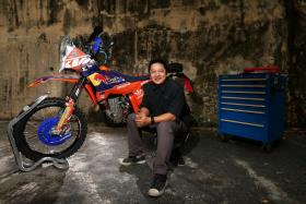 Mr Yusri Yusoff is the proud owner of a converted, rally-inspired race bike.