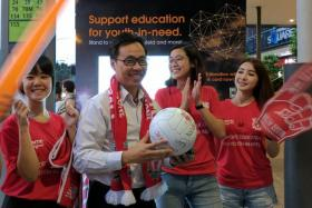 Mr. Ong Thean Haw won a team-signed Liverpool FC ball
