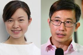 Ms Tin Pei Ling and Mr Teo Ser Luck.