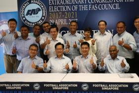 The new FAS Council led by Lim Kia Tong