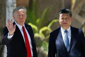 Mr Trump lavished praise on Chinese President Xi Jinping for his efforts to rein in North Korea's nuclear ambitions.