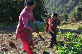 A Nepalese family undergoing a climate smart agriculture programme.