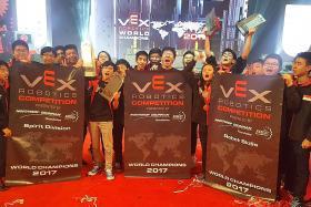 Hai Sing wins big again at robotics world championship