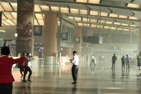 A fire that broke out at Changi Airport Terminal 2 on Tuesday (May 16)