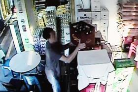 The culprit,  who appears to be in his 30s to 40s, allegedly stole beer from the establishment three times.