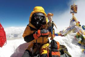 Yusrina stands tall on Everest